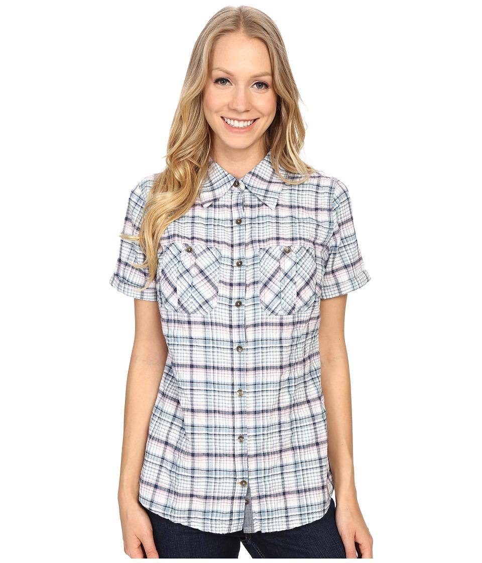 Carhartt - Brogan Shirt (Lapis Blue Heather) Women's Short Sleeve Button Up