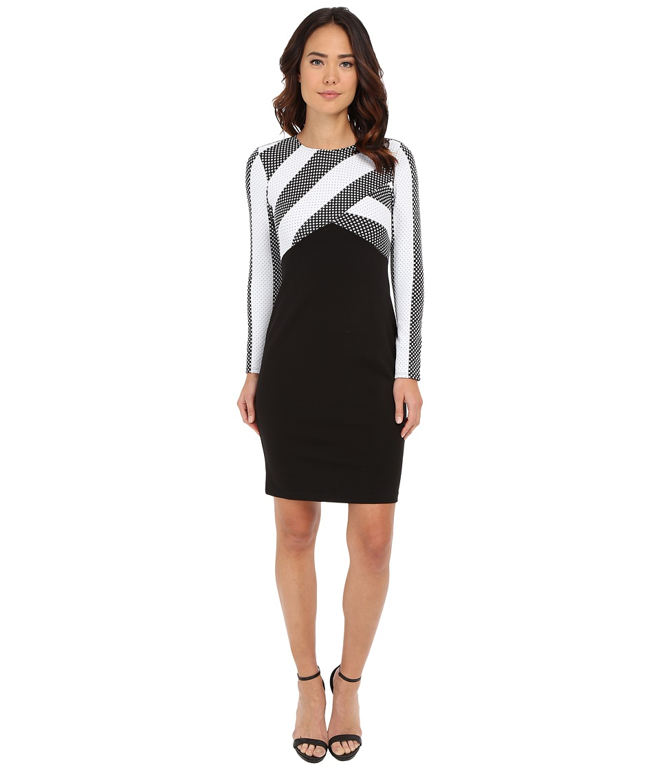 Shoshanna - Giselle Dress (Black/White) Women's Dress