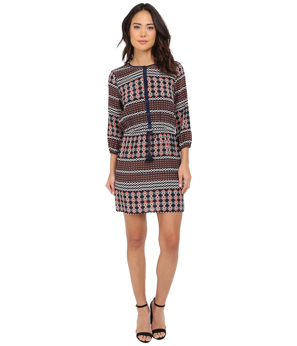 Shoshanna - Henrietta Dress (Navy Multi) Women's Dress