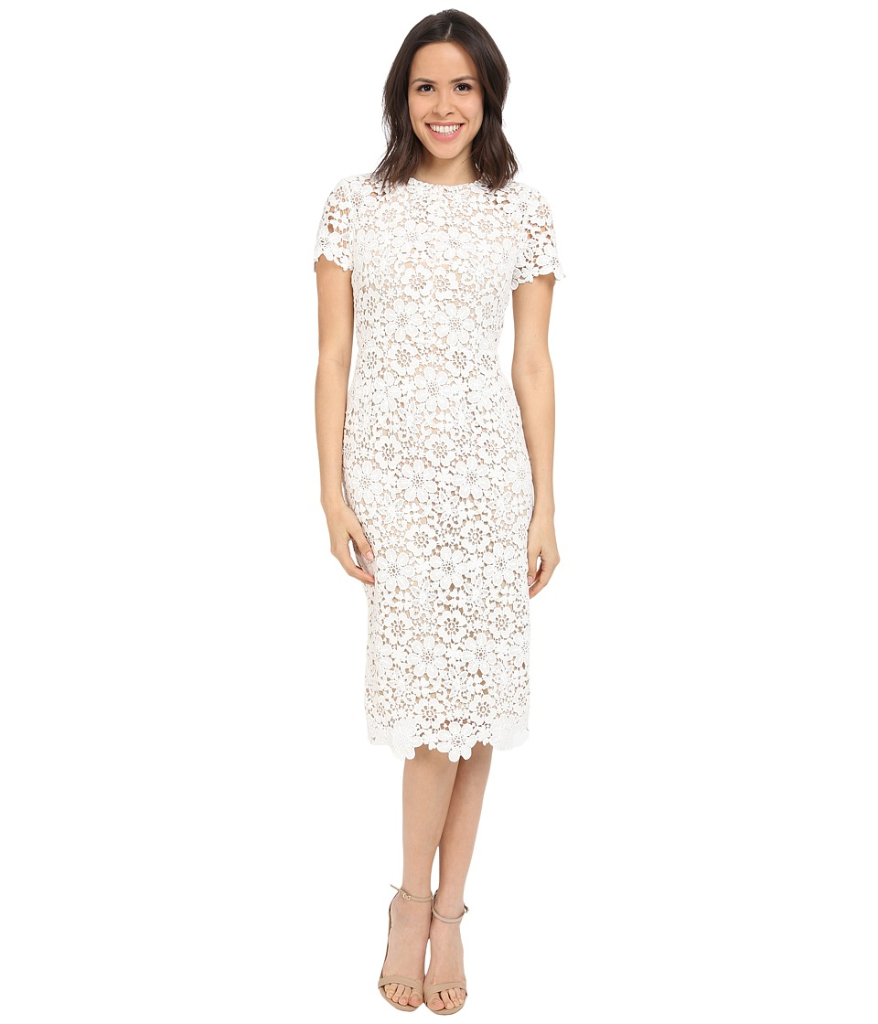 Shoshanna Beaux Midi Dress (Optic) Women