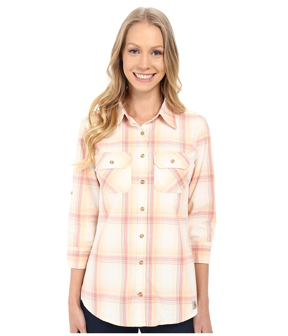 Carhartt - Huron Shirt (Spiced Coral) Women's Long Sleeve Button Up