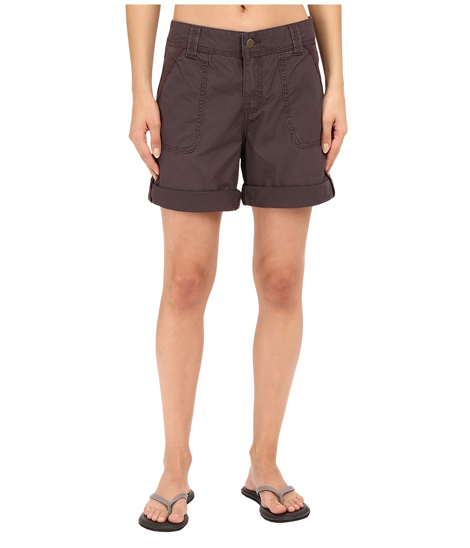 Carhartt - Relaxed Fit El Paso Shorts (Dark Shale) Women's Shorts