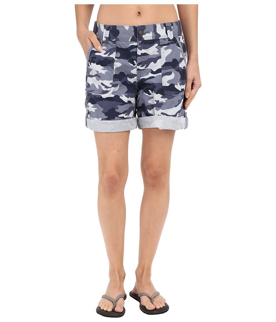 Carhartt - Relaxed Fit El Paso Shorts (Camo Deep Blue) Women's Shorts