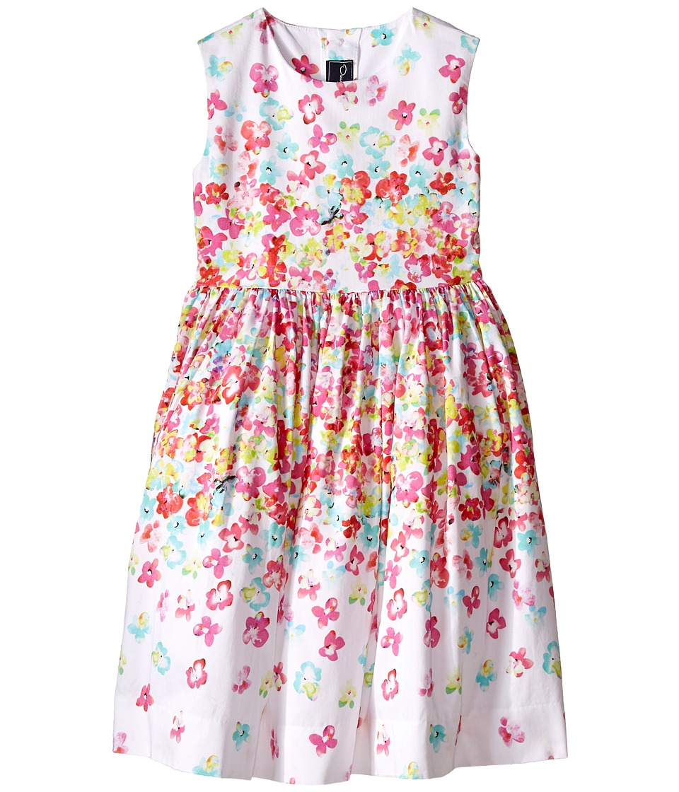Oscar de la Renta Childrenswear - Layered Pansies Cotton Party Dress (Toddler/Little Kids/Big Kids) (Multi) Girl's Dress
