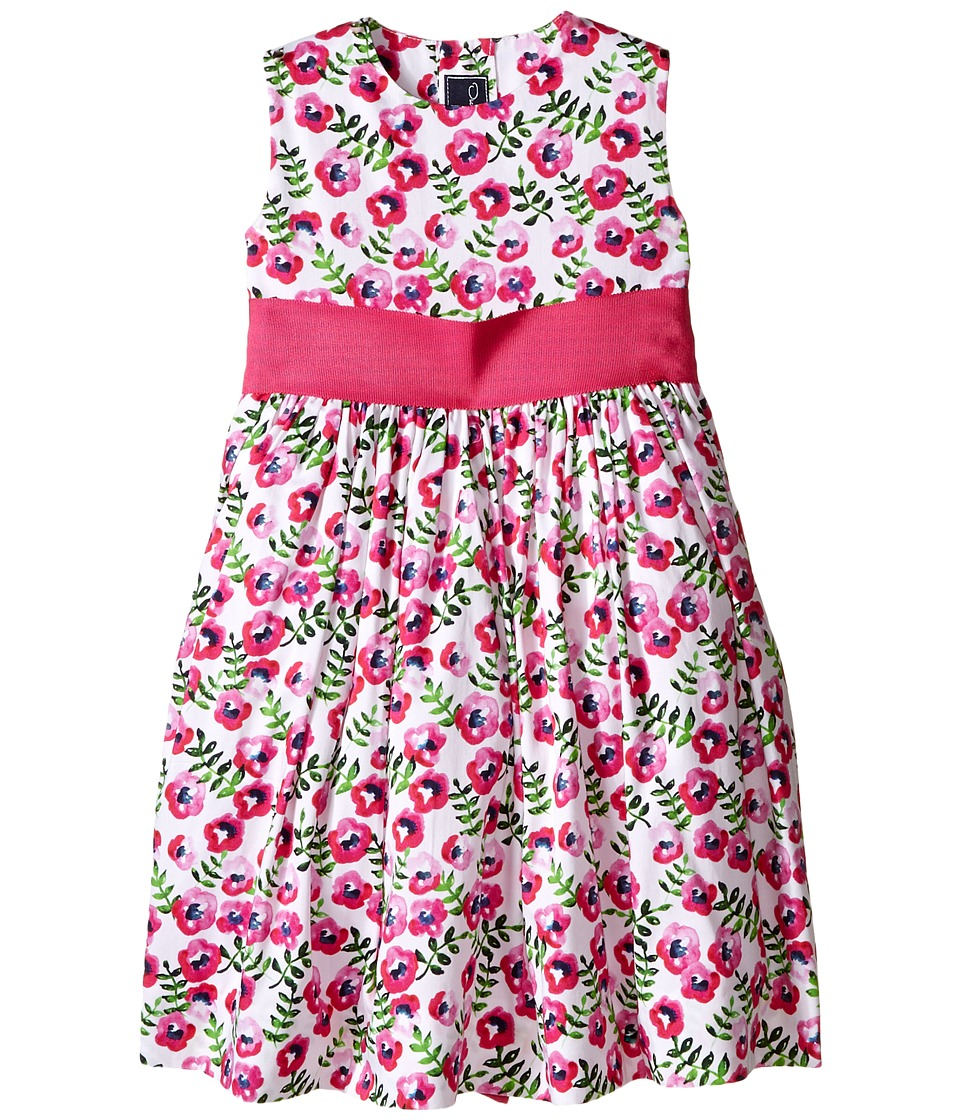 Oscar de la Renta Childrenswear - Spring Pansies Cotton Party Dress (Toddler/Little Kids/Big Kids) (Shocking Pink) Girl's Dress