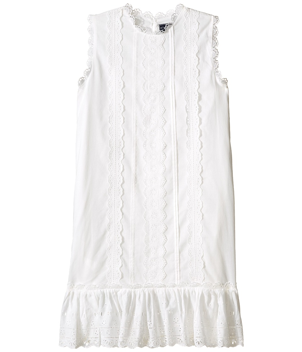 Oscar de la Renta Childrenswear - Cotton Eyelet Sundress (Toddler/Little Kids/Big Kids) (White) Girl's Dress