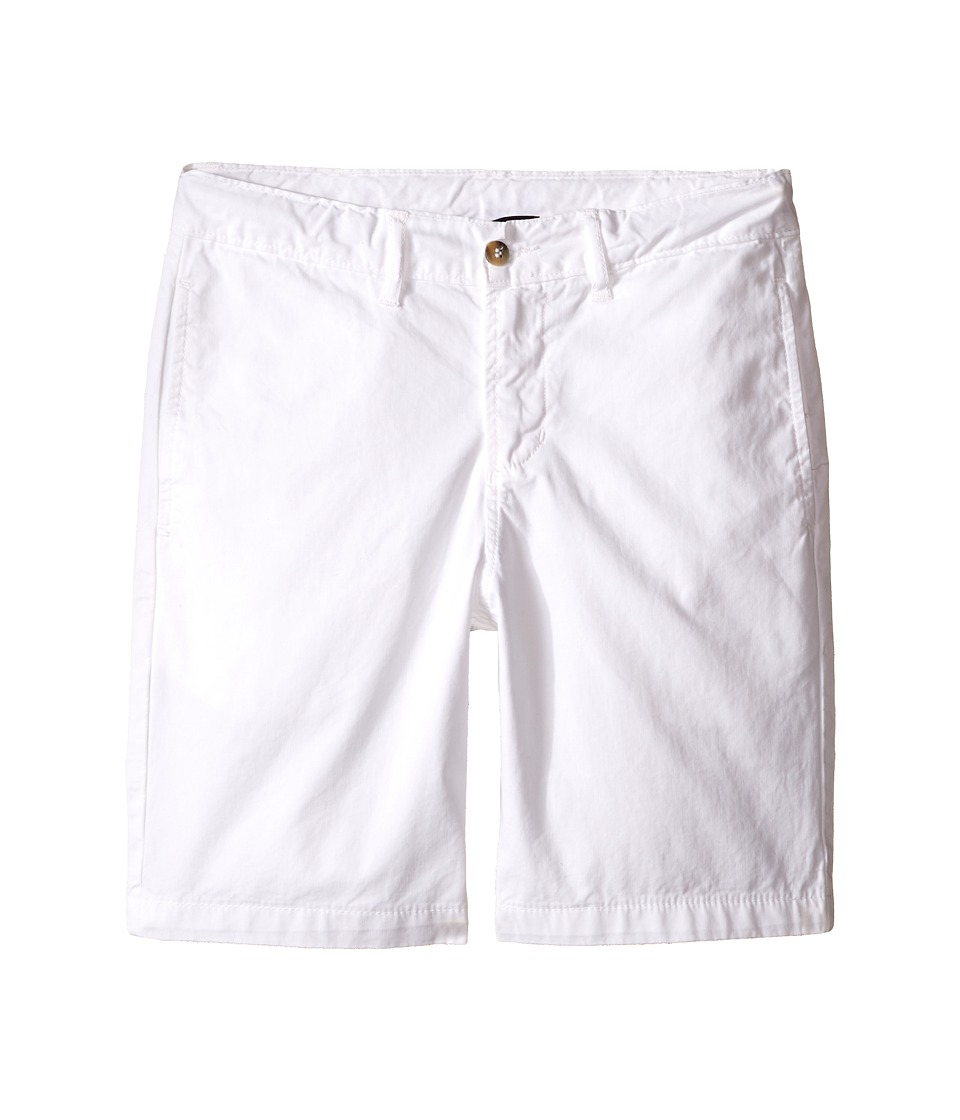 Oscar de la Renta Childrenswear - Cotton Twill Classic Shorts (Toddler/Little Kids/Big Kids) (White) Boy's Shorts