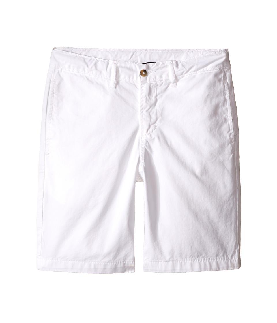 Oscar de la Renta Childrenswear - Cotton Twill Classic Shorts (Toddler/Little Kids/Big Kids) (White) Boy's Shorts