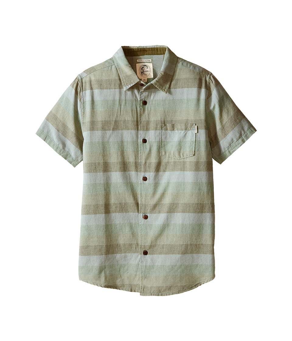 O'Neill Kids - Fifty Two Short Sleeve Tee (Big Kids) (Green) Boy's Clothing