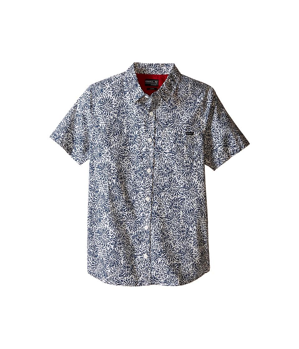 O'Neill Kids - Reefer Short Sleeve Tee (Big Kids) (Blue) Boy's Short Sleeve Button Up