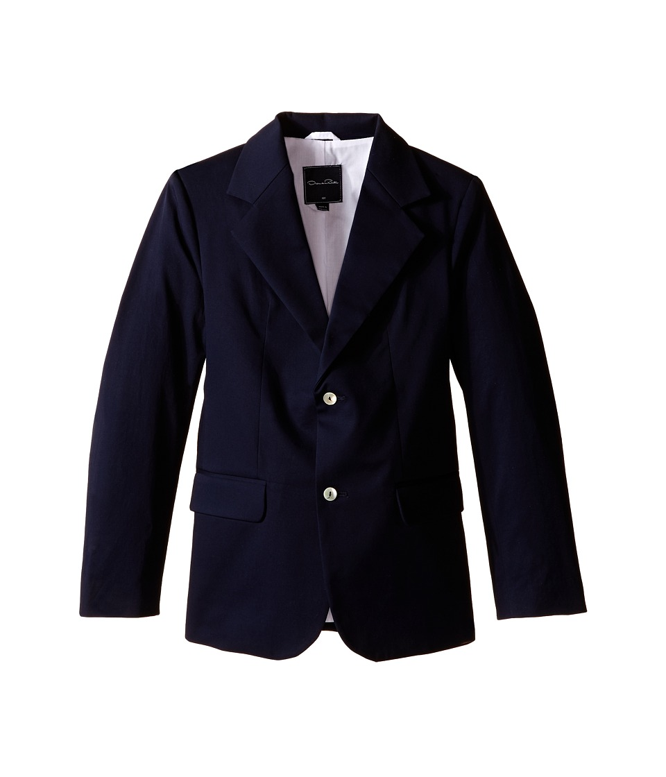 Oscar de la Renta Childrenswear - Poplin Blazer (Toddler/Little Kids/Big Kids) (Navy) Boy's Jacket
