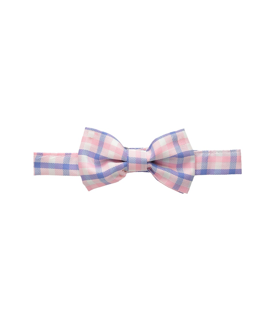 Oscar de la Renta Childrenswear - Check Cotton Bow Tie (Toddler/Little Kids/Big Kids) (Rose) Ties