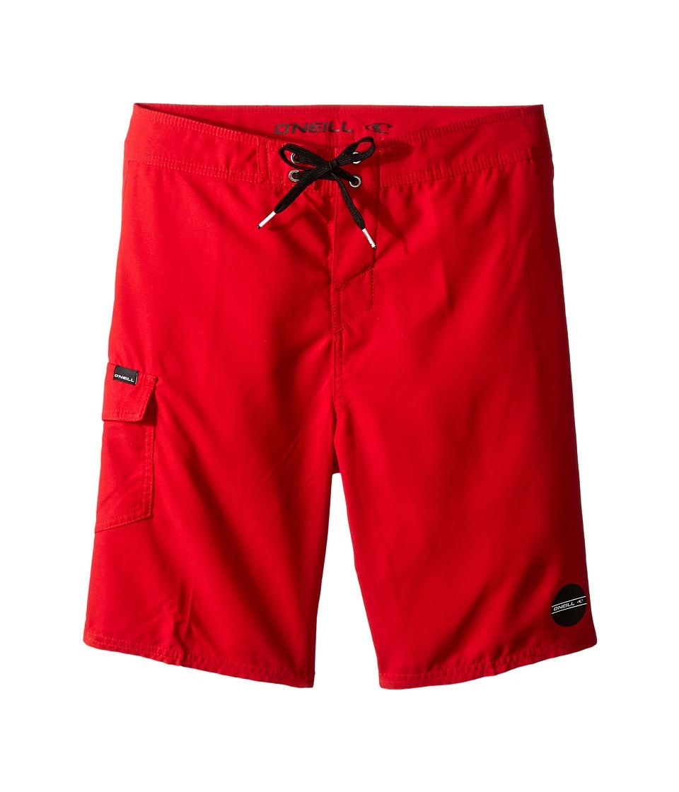 O'Neill Kids - Santa Cruz Solid Boardshorts (Big Kids) (Red) Boy's Swimwear