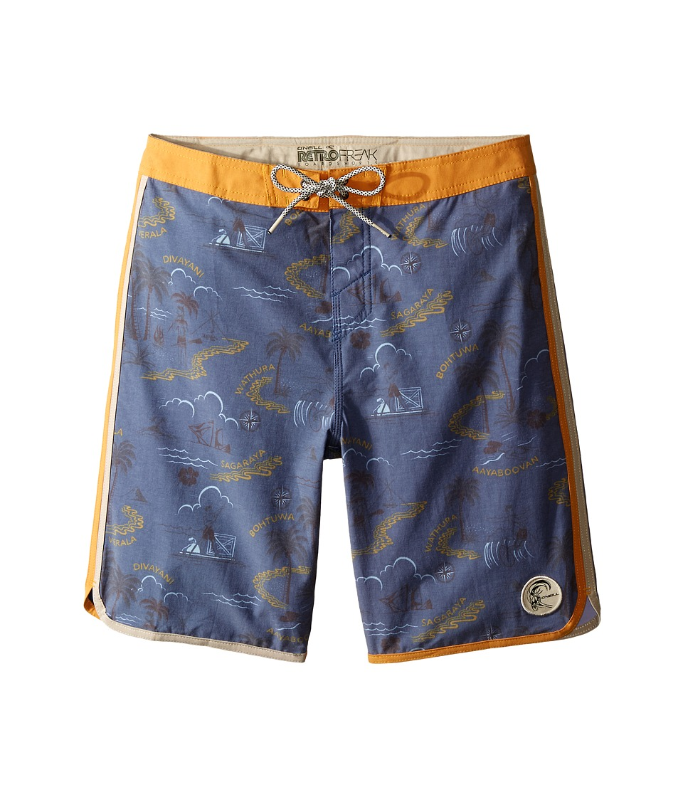 O'Neill Kids - Retrofreak Hook Boardshorts (Big Kids) (Blue) Boy's Swimwear