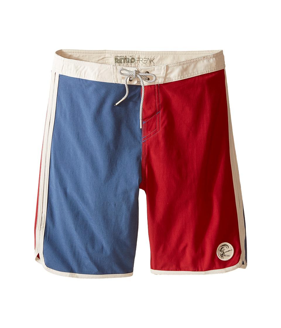 O'Neill Kids - Retrofreak Scallop Boardshorts (Big Kids) (Blue) Boy's Swimwear