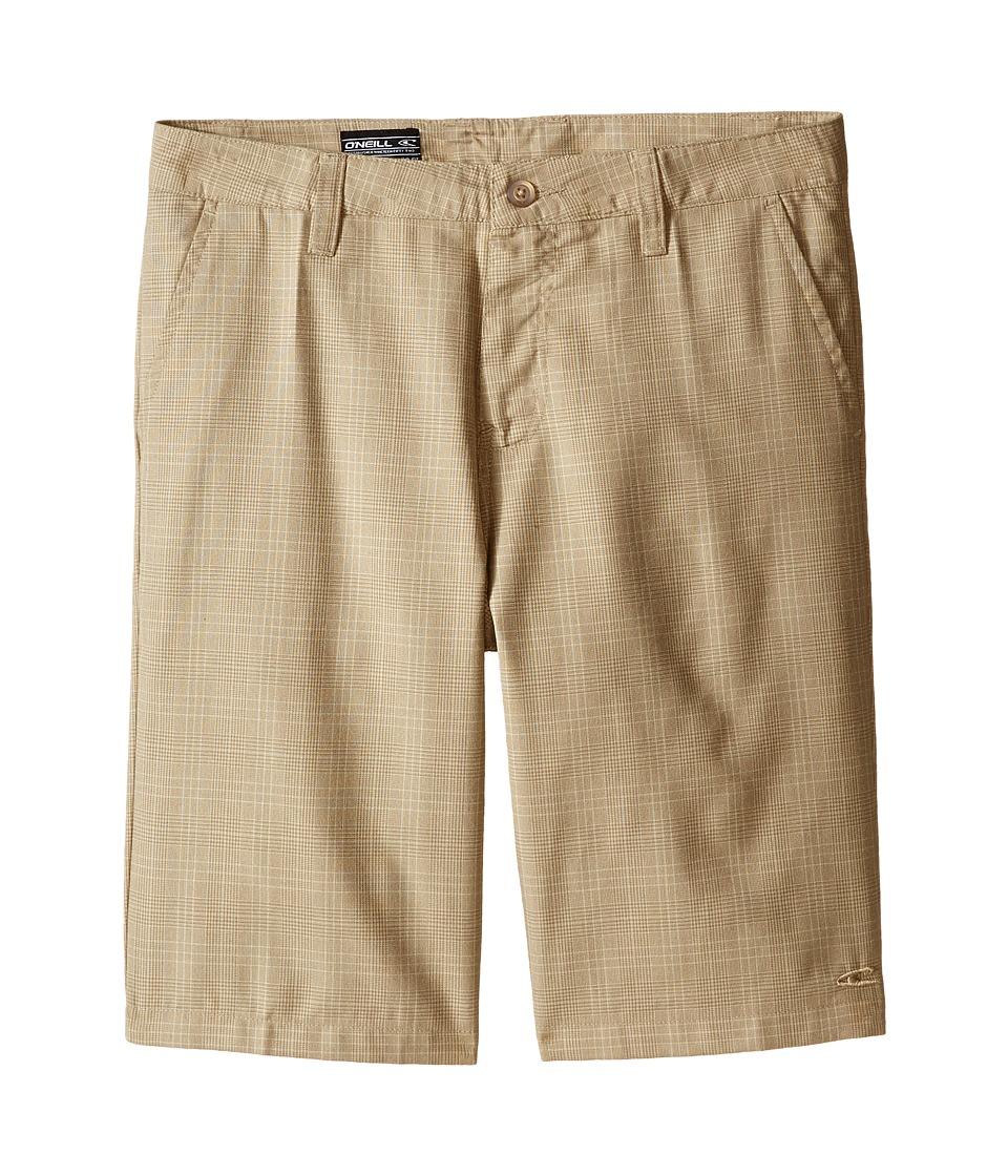 O'Neill Kids - Delta Plaid Shorts (Big Kids) (Dark Stone) Boy's Shorts