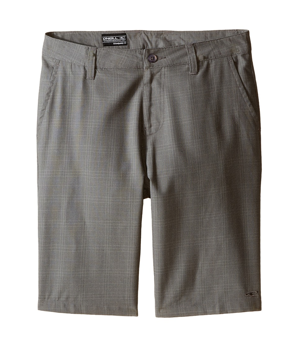 O'Neill Kids - Delta Plaid Shorts (Big Kids) (Grey) Boy's Shorts
