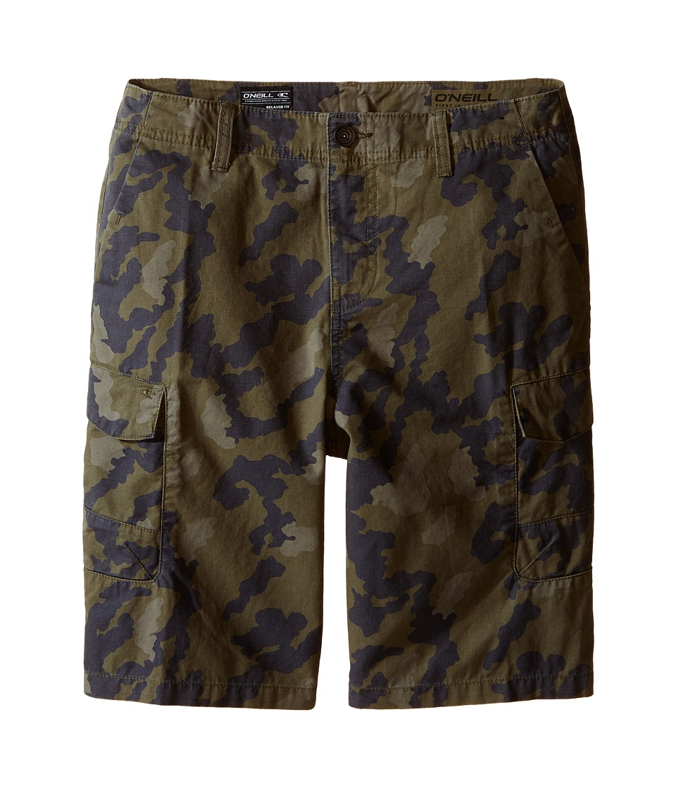 O'Neill Kids - Black Hawk Cargo Shorts (Big Kids) (Camo) Boy's Shorts