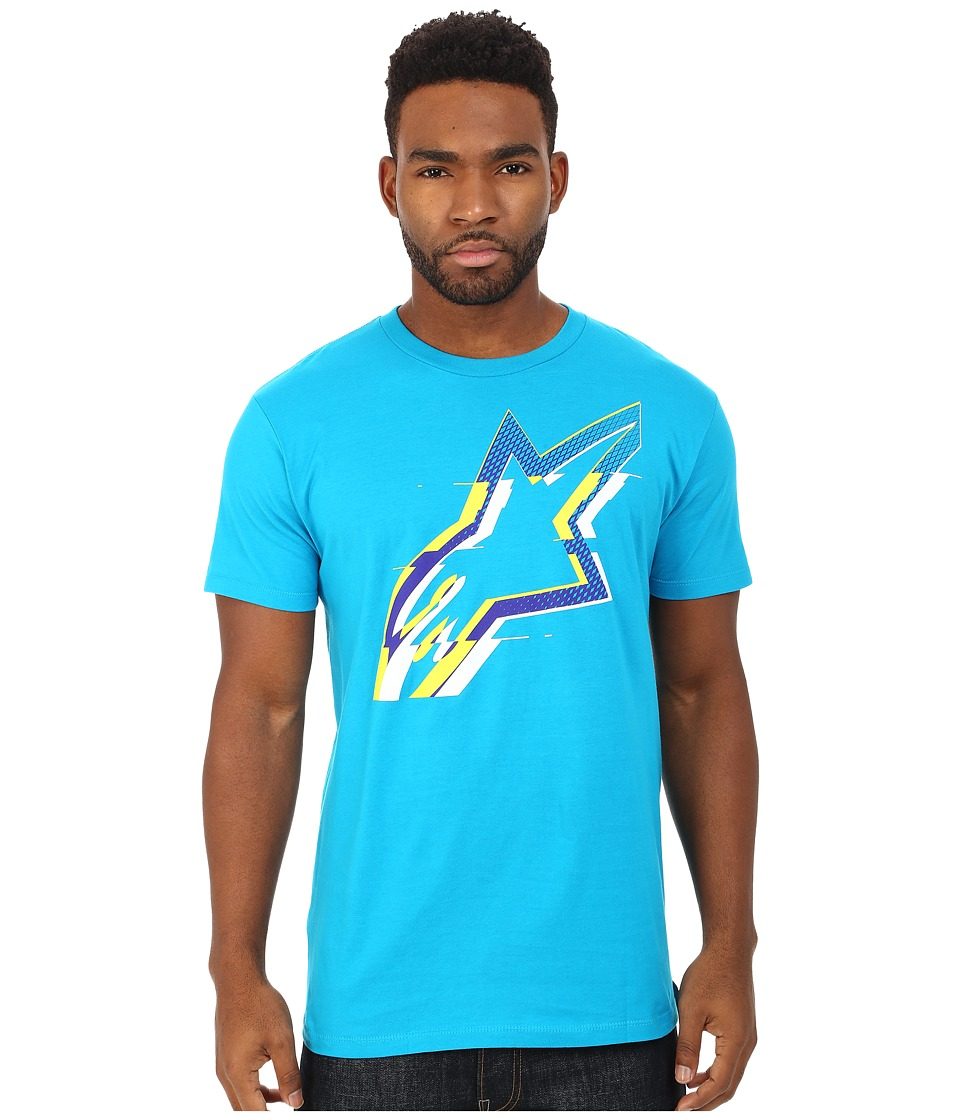 Alpinestars - Glitch Tee (Turquoise) Men's T Shirt