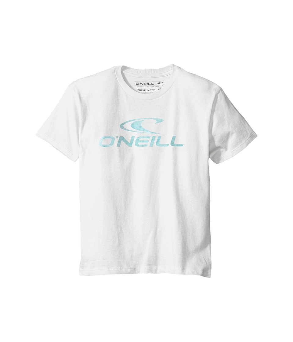 O'Neill Kids - Supreme Short Sleeve Screen Tee (Big Kids) (White) Boy's Short Sleeve Pullover