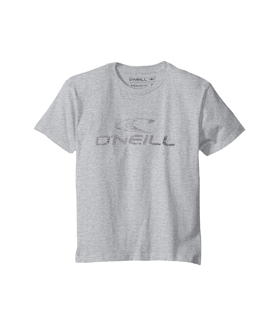 O'Neill Kids - Supreme Short Sleeve Screen Tee (Big Kids) (Medium Heather Grey) Boy's Short Sleeve Pullover