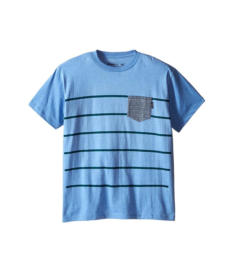 O'Neill Kids - Vals Short Sleeve Screens Tee (Big Kids) (Light Blue Heather) Boy's Short Sleeve Pullover