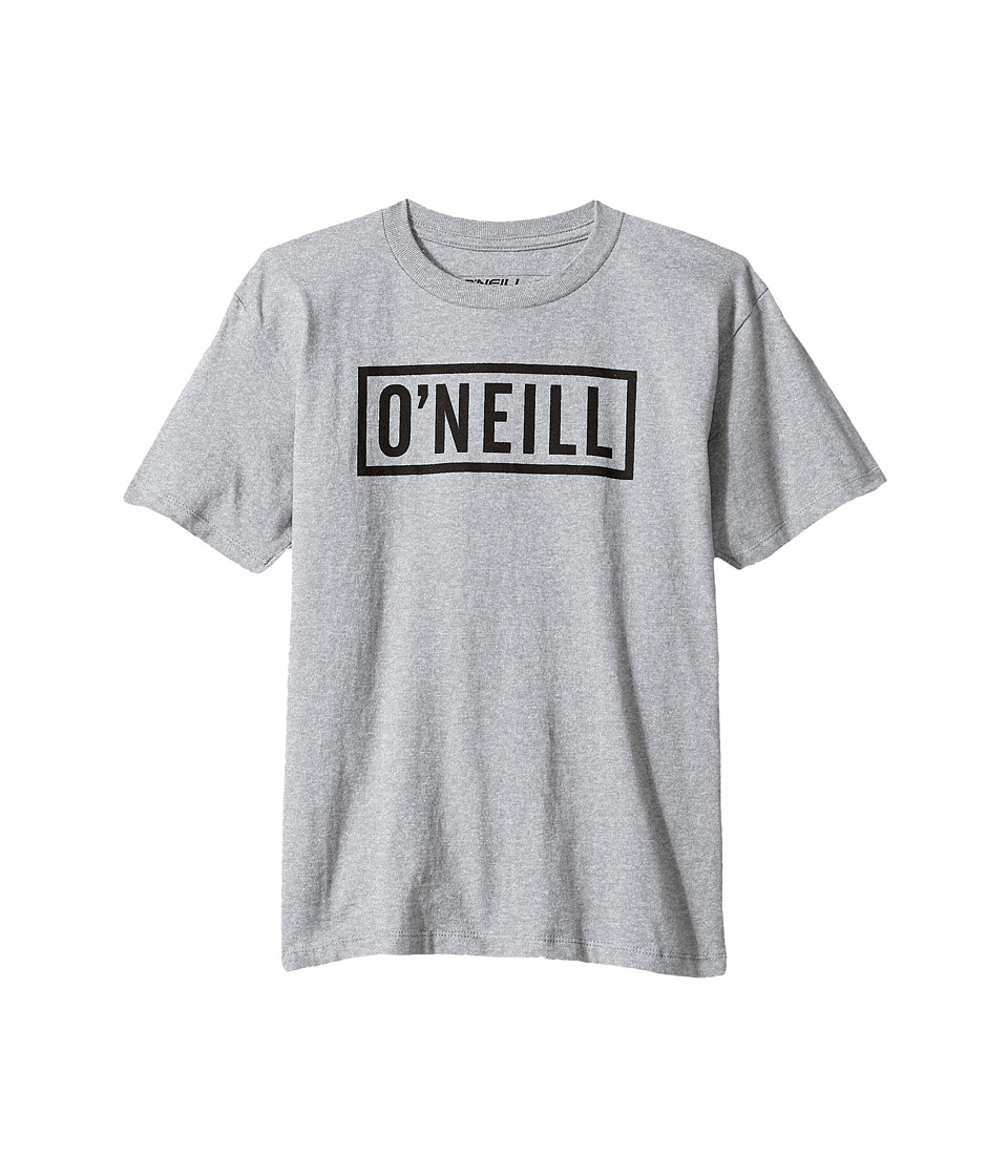 O'Neill Kids - Block Short Sleeve Screen Tee (Big Kids) (Medium Heather Grey) Boy's T Shirt