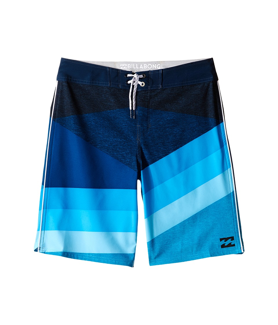Billabong Kids - Slice X Boardshorts (Big Kids) (Blue) Boy's Swimwear