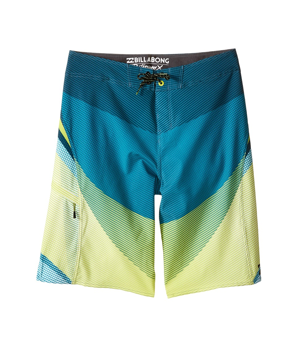 Billabong Kids - Fluid X Boardshorts (Big Kids) (Lime) Boy's Swimwear