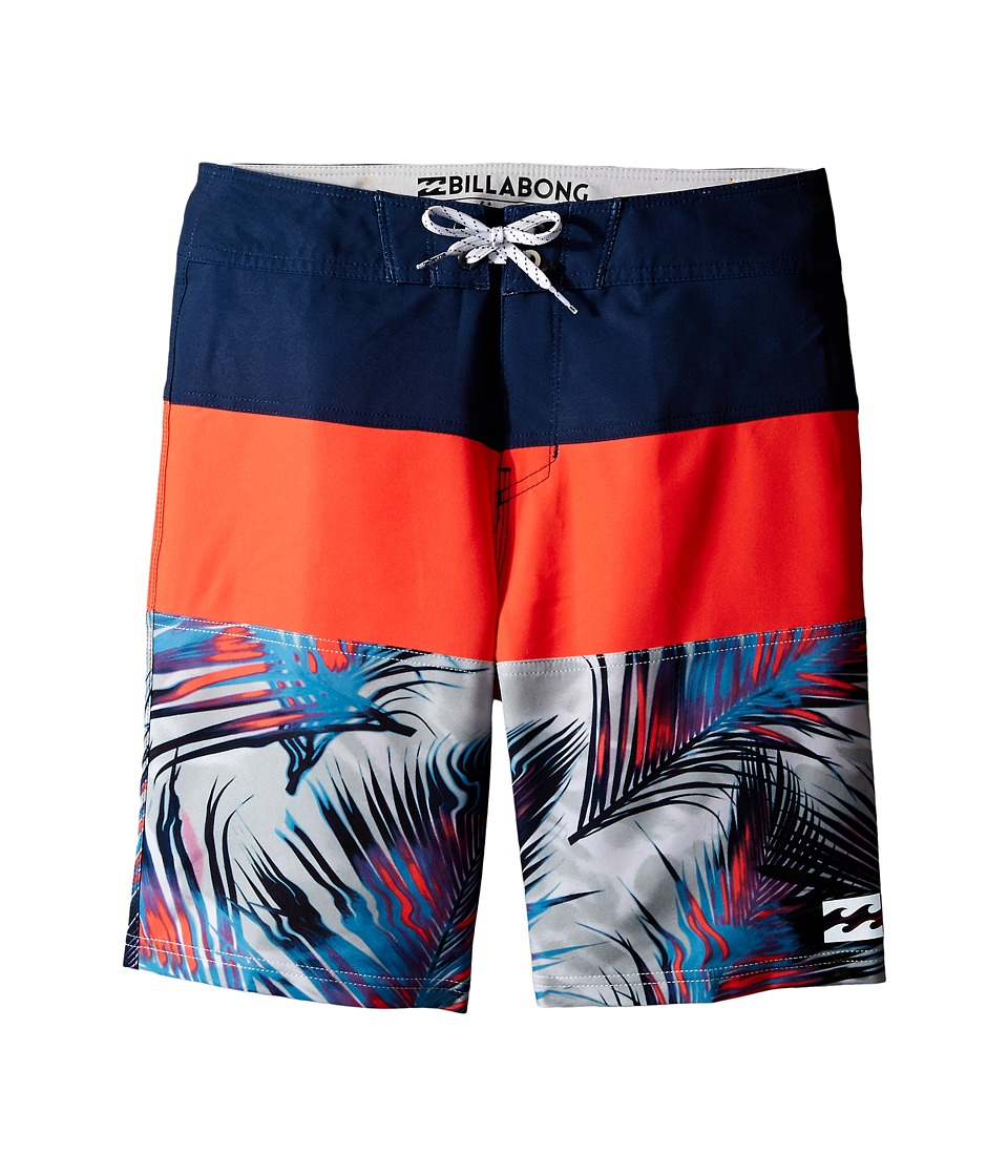 Billabong Kids - Tribong X Fronds (Big Kids) (Neo Red) Boy's Swimwear