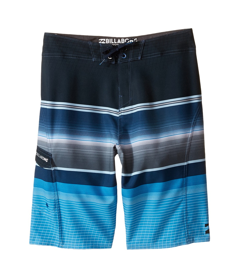 Billabong Kids - All Day X Stripe (Big Kids) (Blue) Boy's Swimwear