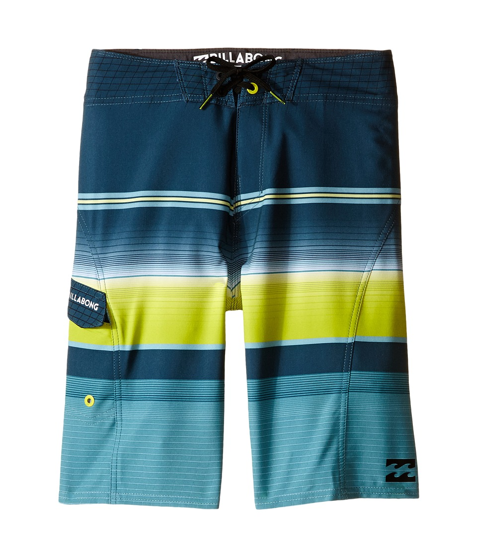 Billabong Kids - All Day X Stripe (Big Kids) (Lime) Boy's Swimwear