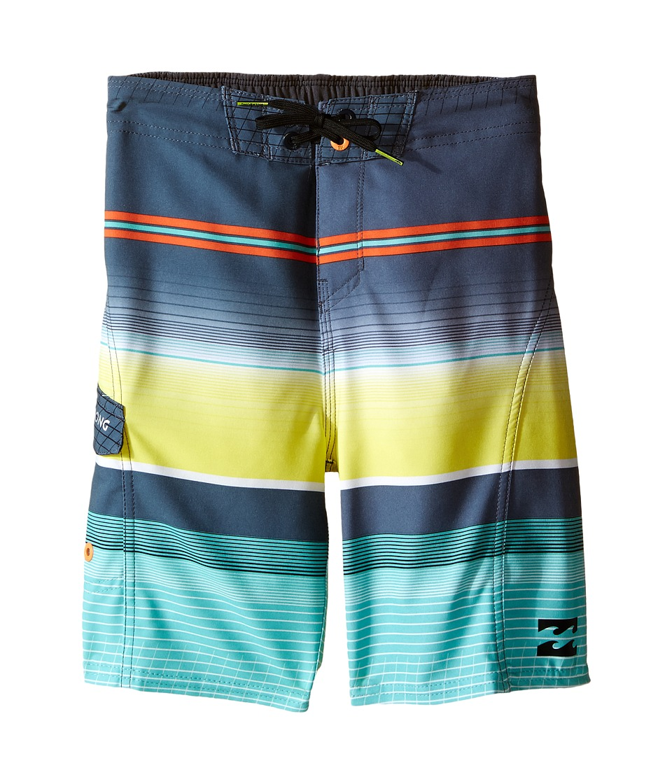 Billabong Kids - All Day X Stripe (Big Kids) (Mint) Boy's Swimwear