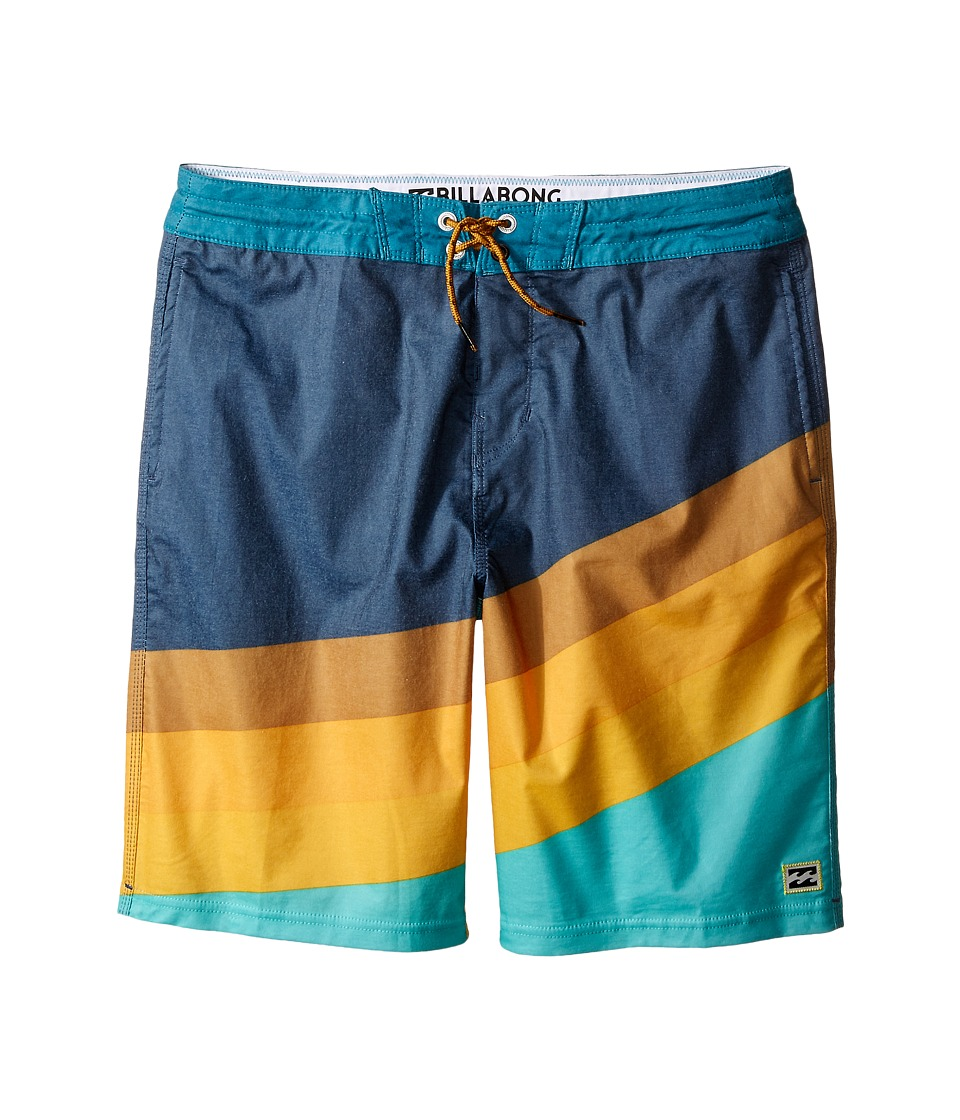 Billabong Kids - Slice Lo Tides (Big Kids) (Aqua) Boy's Swimwear