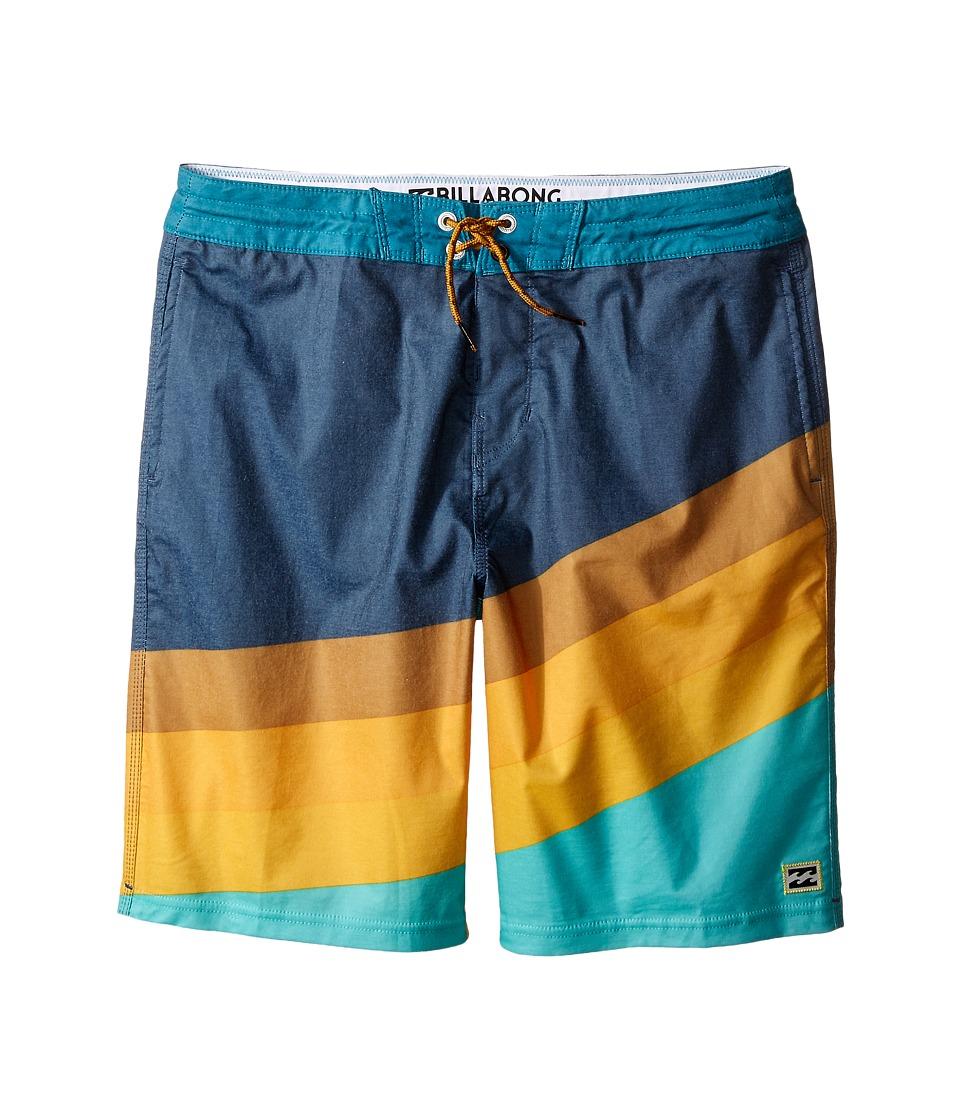 Billabong Kids - Slice Lo Tides (Big Kids) (Aqua) Boy's Swimwear