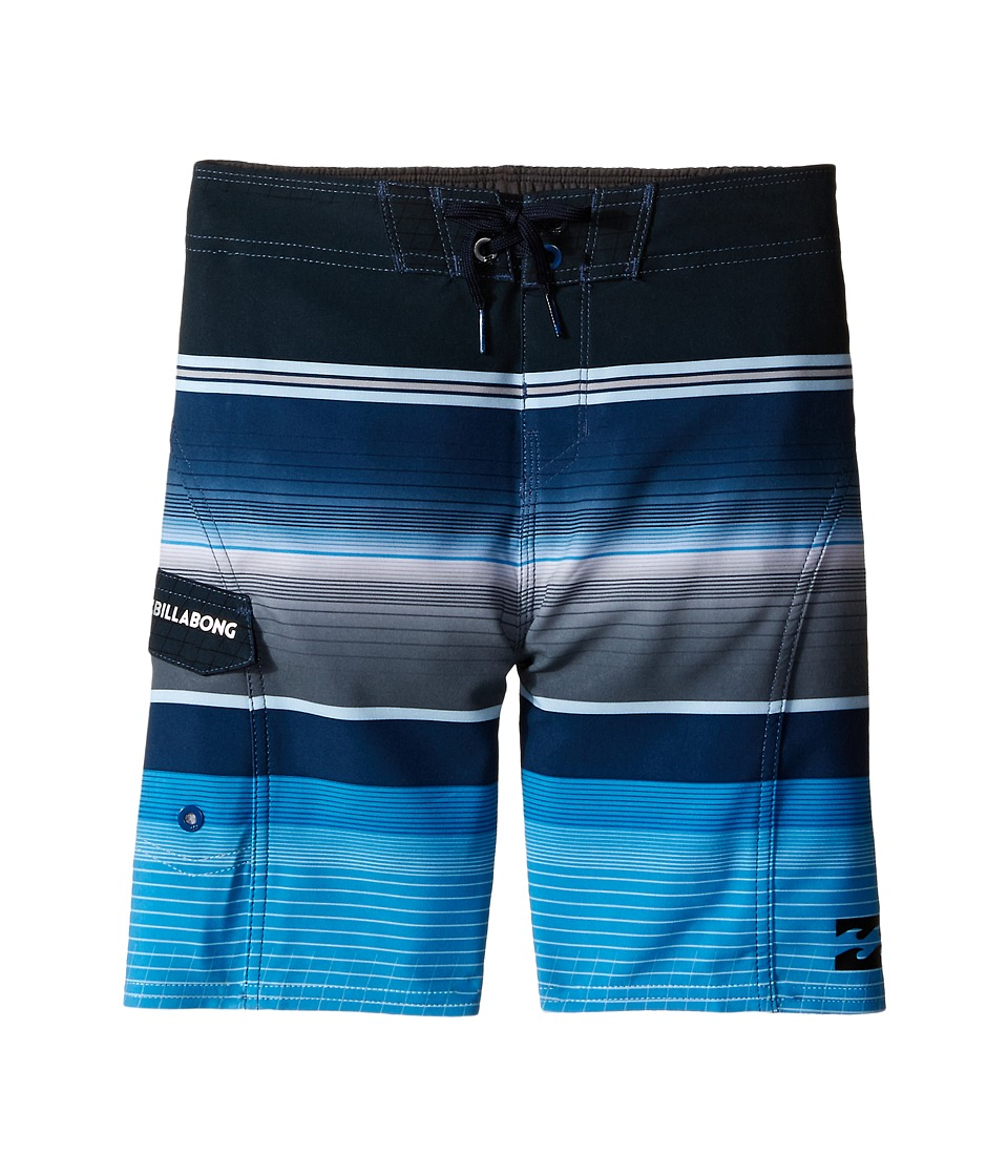 Billabong Kids - All Day X Stripe (Toddler/Little Kids) (Blue) Boy's Swimwear