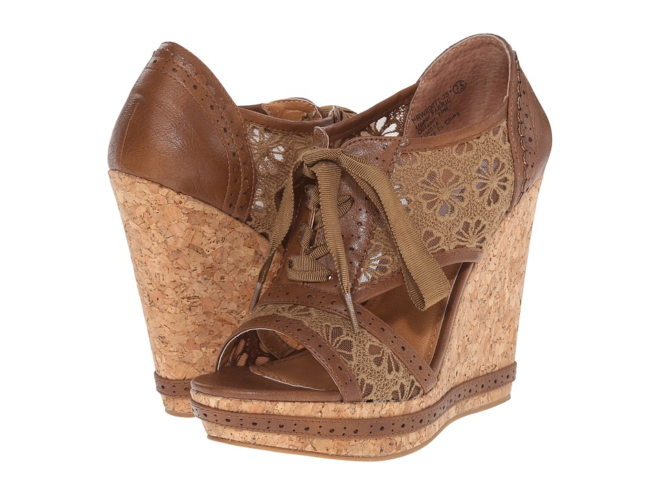 Not Rated - Catalonia (Tan) Women's Wedge Shoes