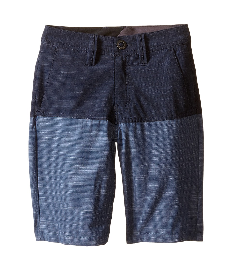 Volcom Kids - SNT Block Shorts (Big Kids) (Navy) Boy's Swimwear