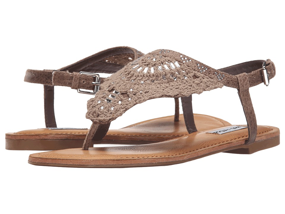 Not Rated - Crochet Me Down (Taupe) Women's Sandals
