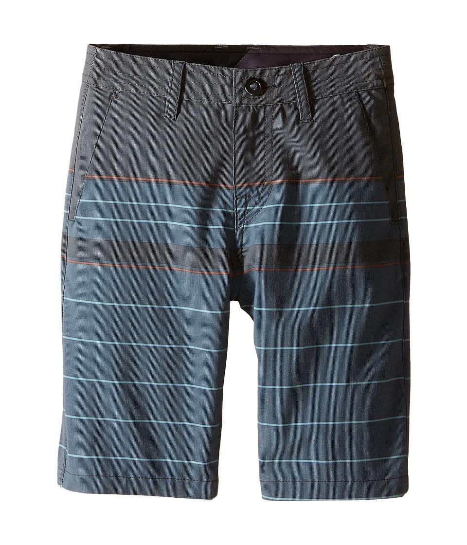 Volcom Kids - SNT Stripe Hybrid Shorts (Big Kids) (Black) Boy's Shorts