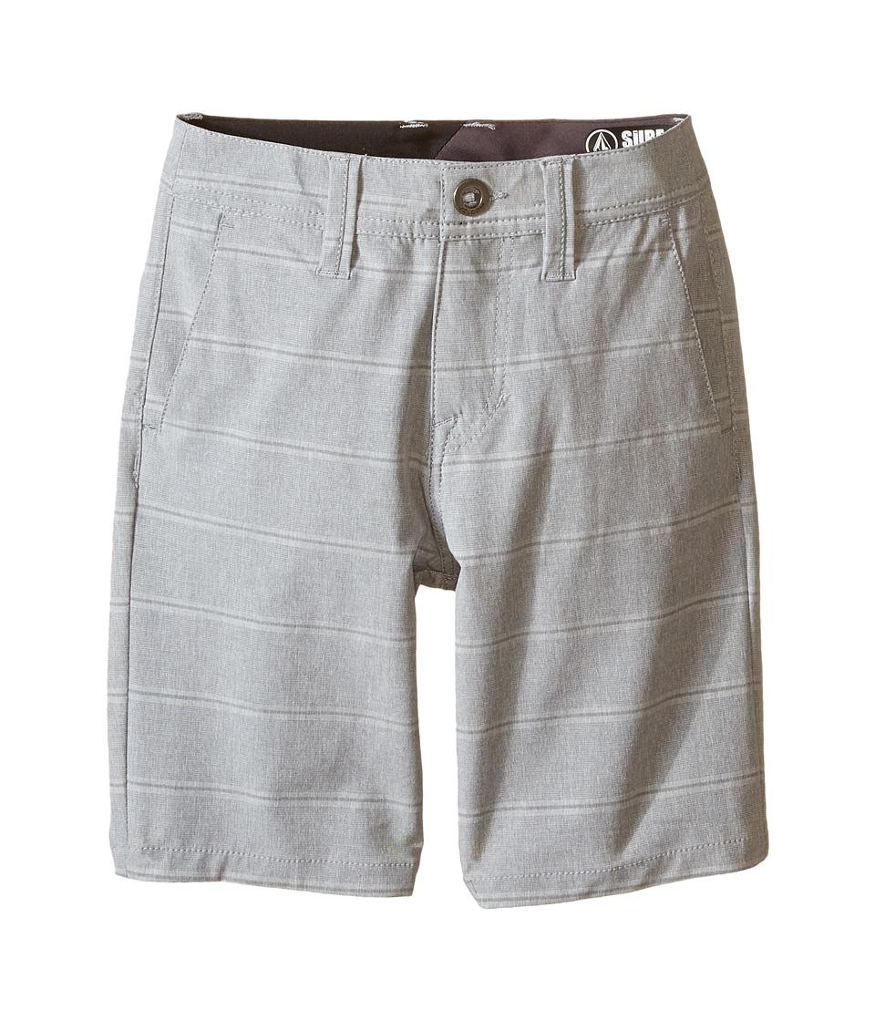 Volcom Kids - SNT Mix Hybrid Shorts (Big Kids) (Dark Grey) Boy's Shorts