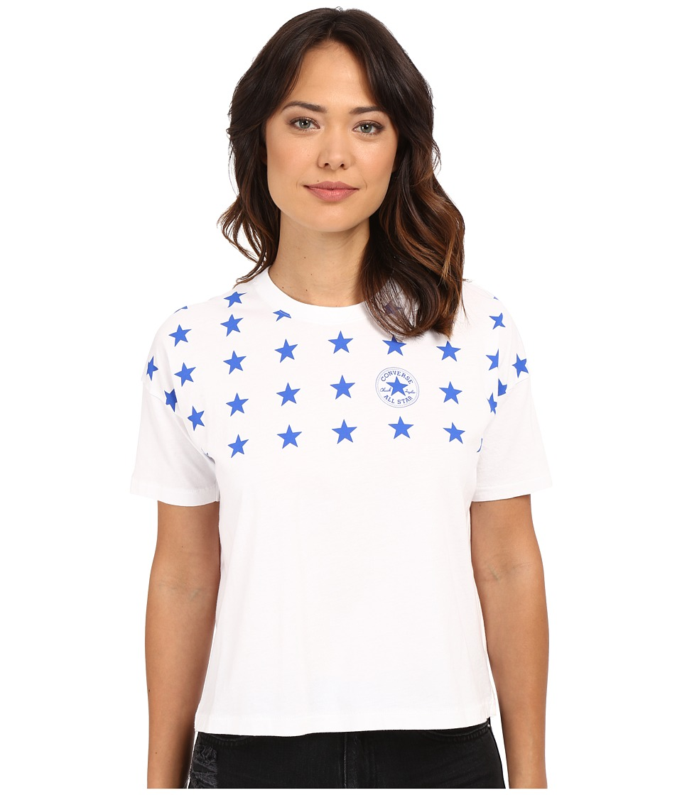 Converse - Famous 4 Star Print Swing Tee (White) Women's T Shirt