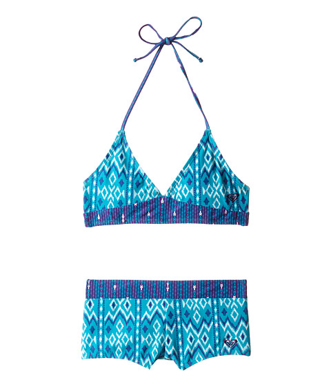Roxy Kids - Gypsy Tiki Tankini Set (Big Kids) (Lake Blue) Girl