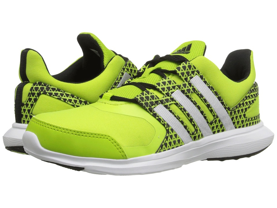 adidas Kids - Hyperfast 2.0 K (Little Kid/Big Kid) (Semi Solar Slime/Silver/Black) Boys Shoes