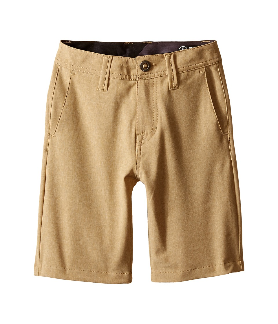 Volcom Kids - SNT Static Hybrid Shorts (Big Kids) (Dark Khaki) Boy's Shorts