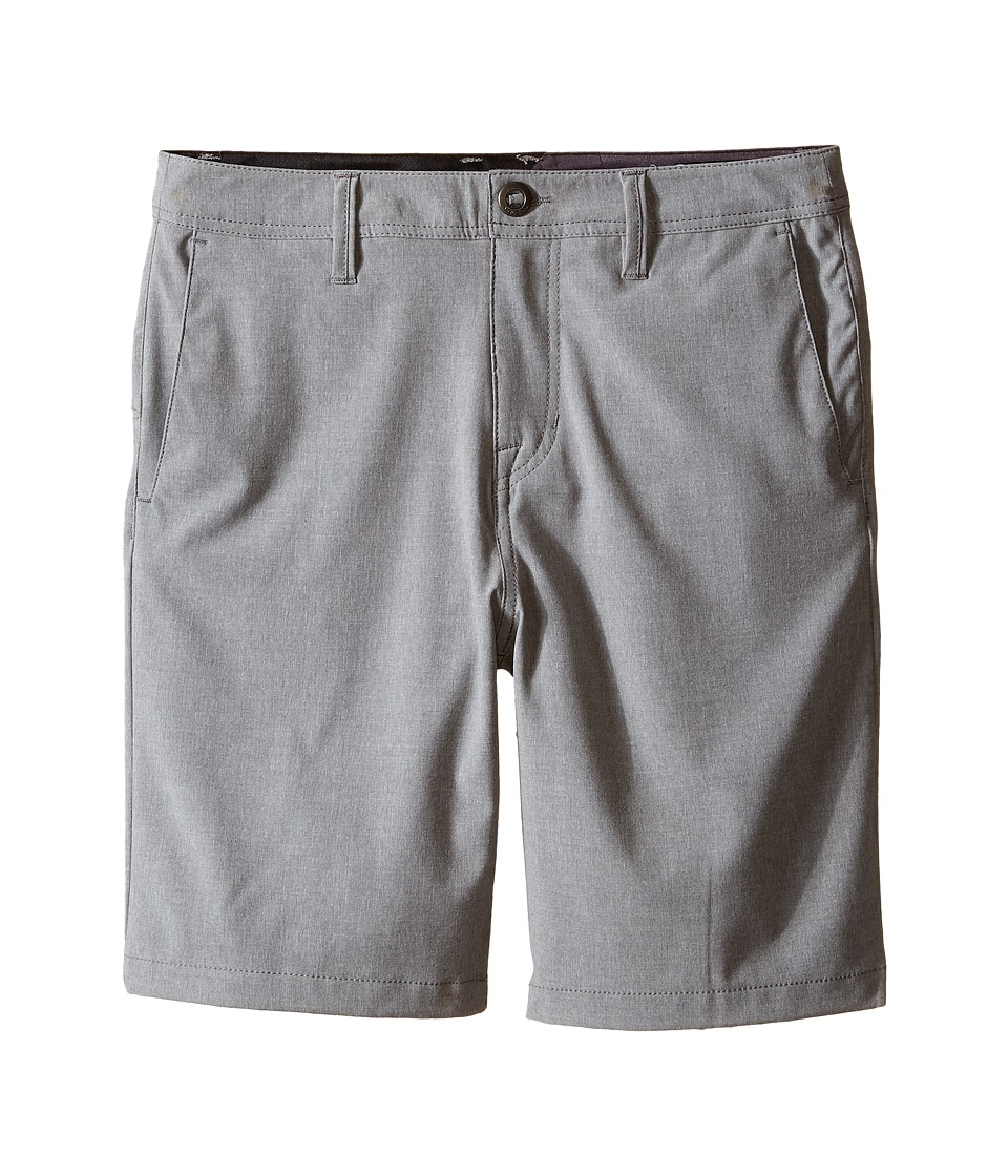 Volcom Kids - SNT Static Hybrid Shorts (Big Kids) (Gunmetal) Boy's Shorts