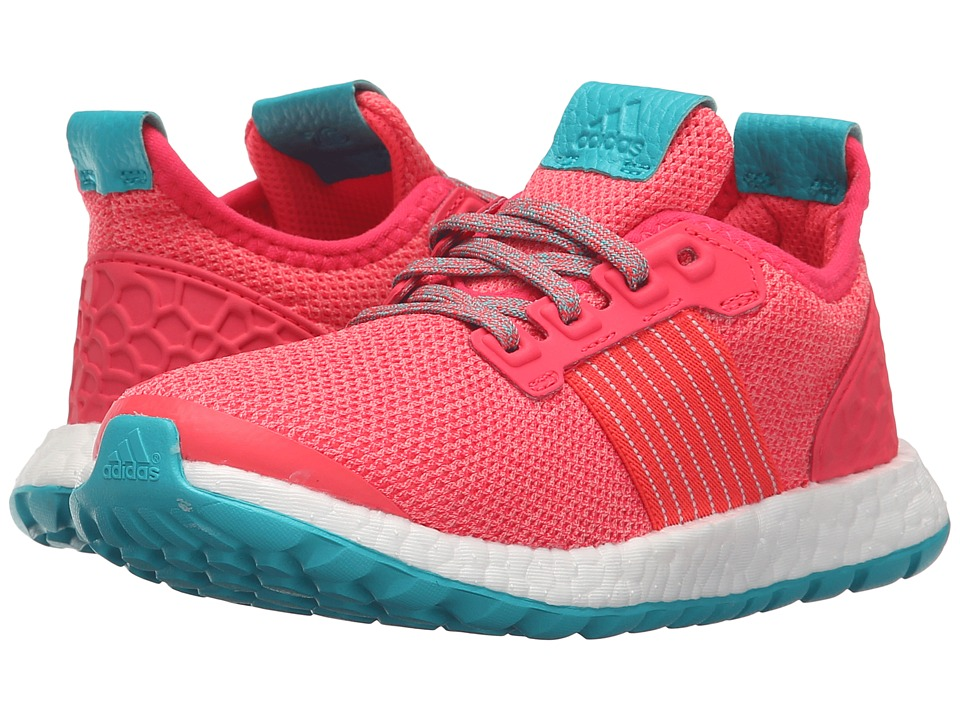adidas Kids - Pureboost ZG C (Little Kid) (Sunglow/Red/Green) Boys Shoes