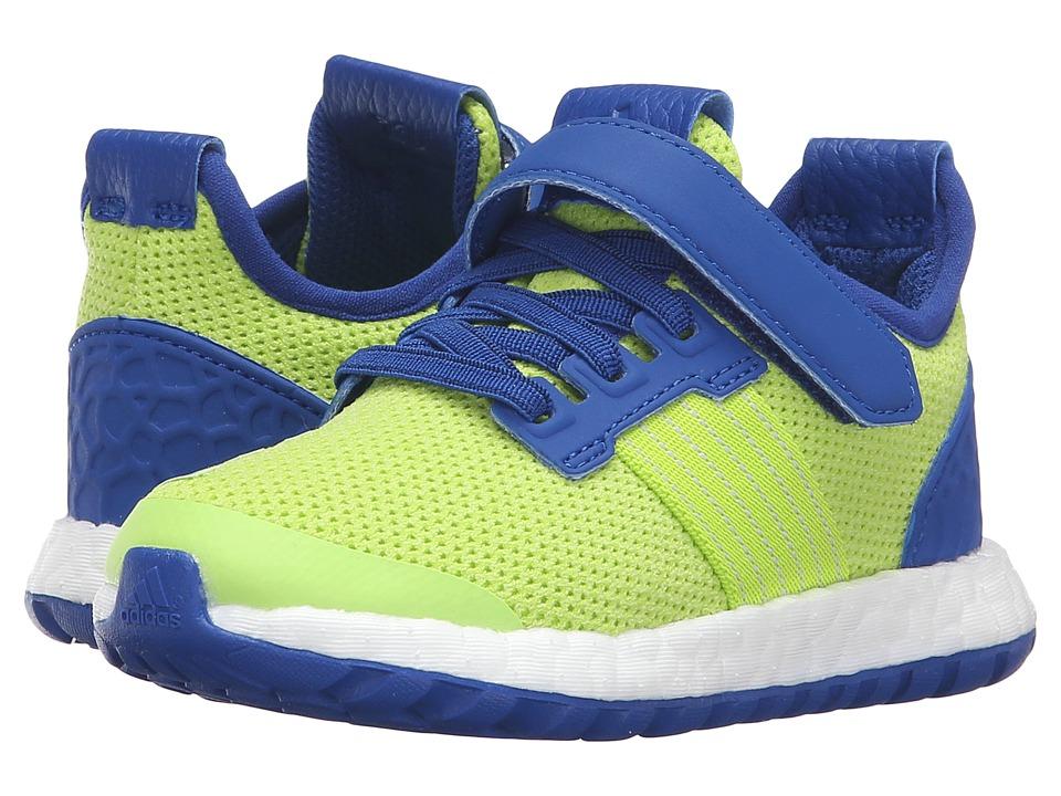 adidas Kids - Pureboost ZG I (Toddler) (Semi Solar Slime/Silver/Royal) Boys Shoes