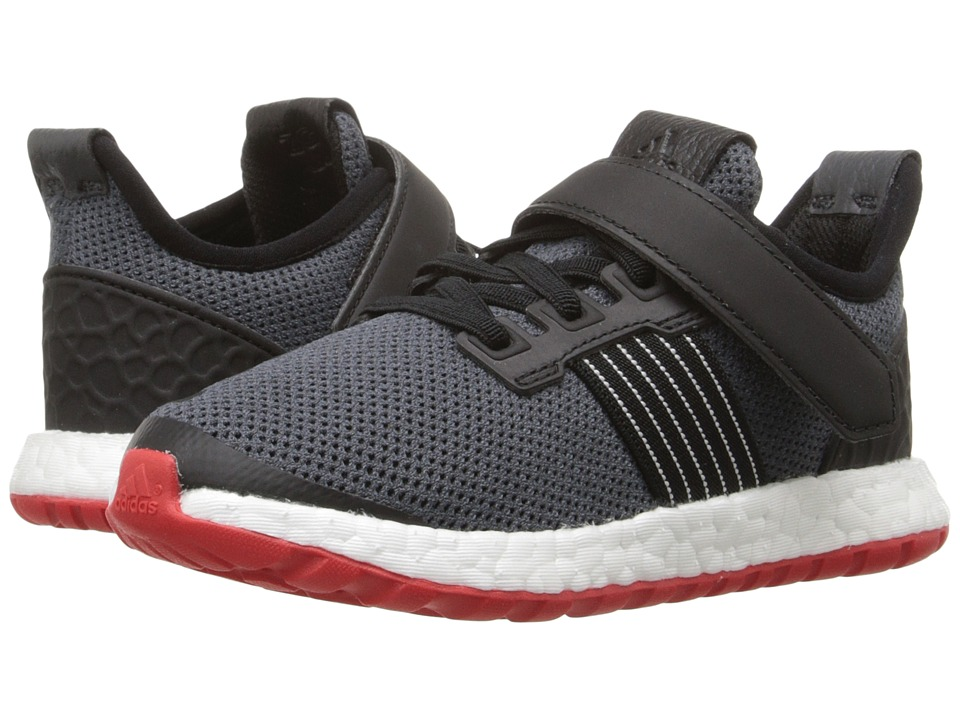 adidas Kids - Pureboost ZG I (Toddler) (Black/Red/White) Boys Shoes