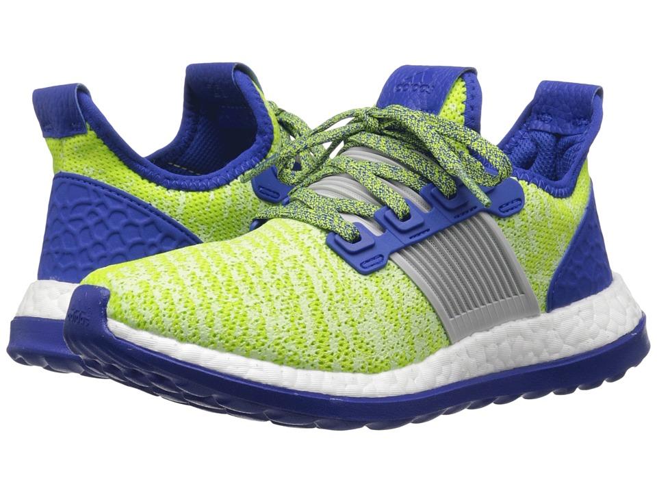 adidas Kids - Pureboost ZG J (Big Kid) (Semi Solar Slime/Silver/Royal) Boys Shoes